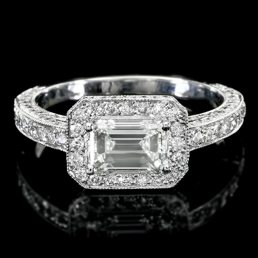14k White Gold 3ct Diamond Ring