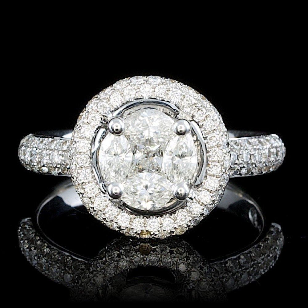 18k White Gold 1.35ct Diamond Ring