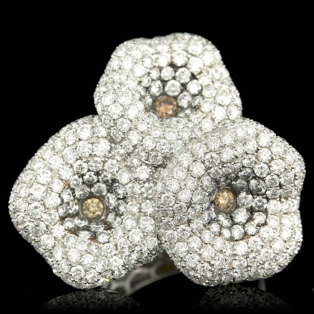 18k White Gold 6.82ct Diamond Ring