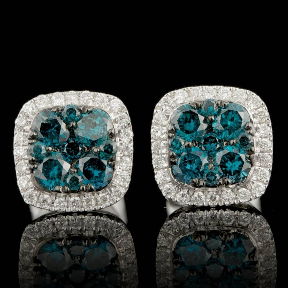14k White Gold .61ct Diamond Earrings