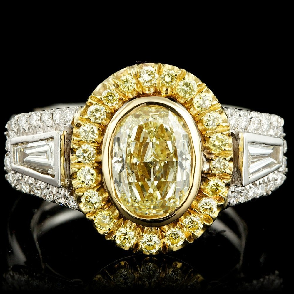 18k Multi-Tone Gold 2.5ct Diamond Ring