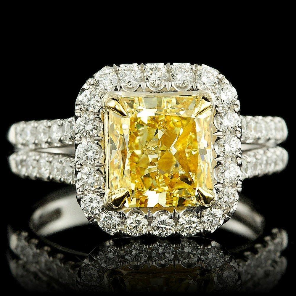 18k Multi-Tone Gold 3.92ct Diamond Ring