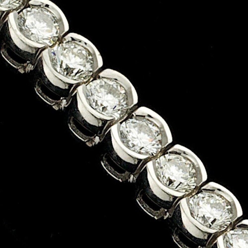 14k White Gold 8.00ct Diamond Bracelet