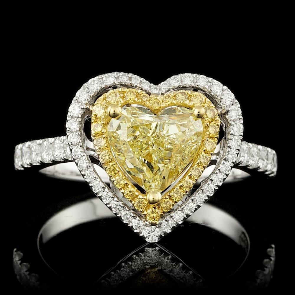 18k Multi-Tone Gold 2.06ct Diamond Ring