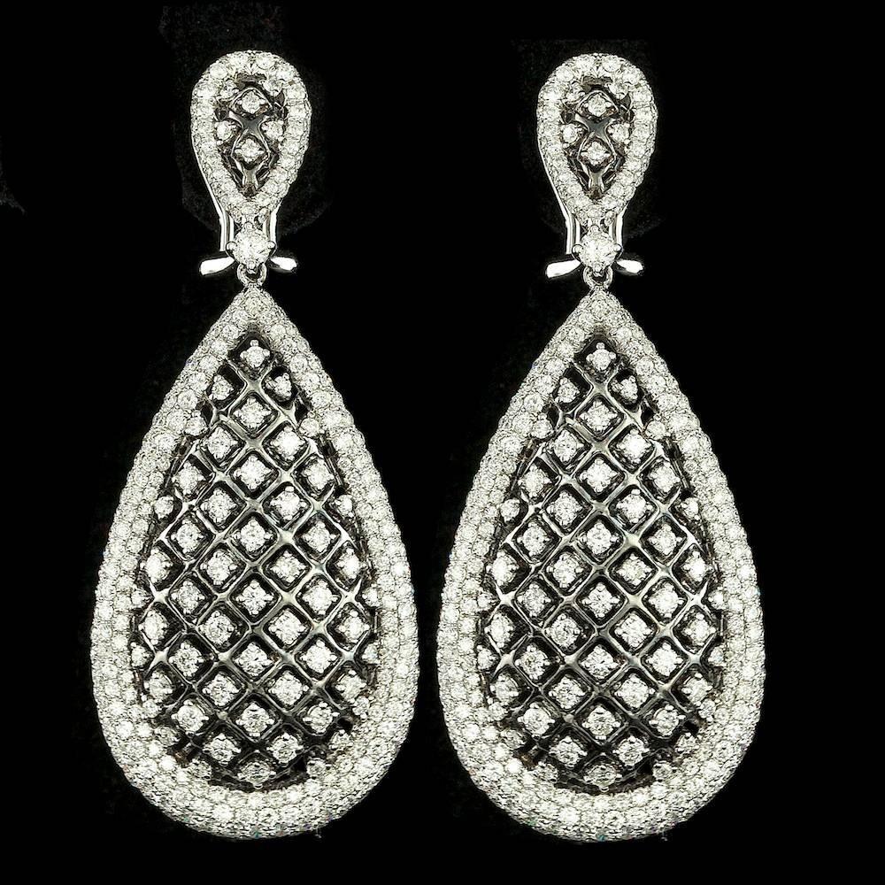 18k White Gold 6.00ct Diamond Earrings