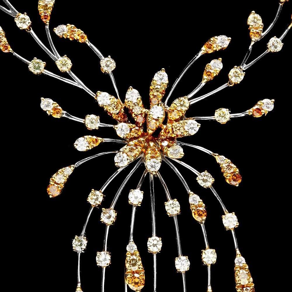 18k Multi-Tone Gold 13ct Diamond Necklace