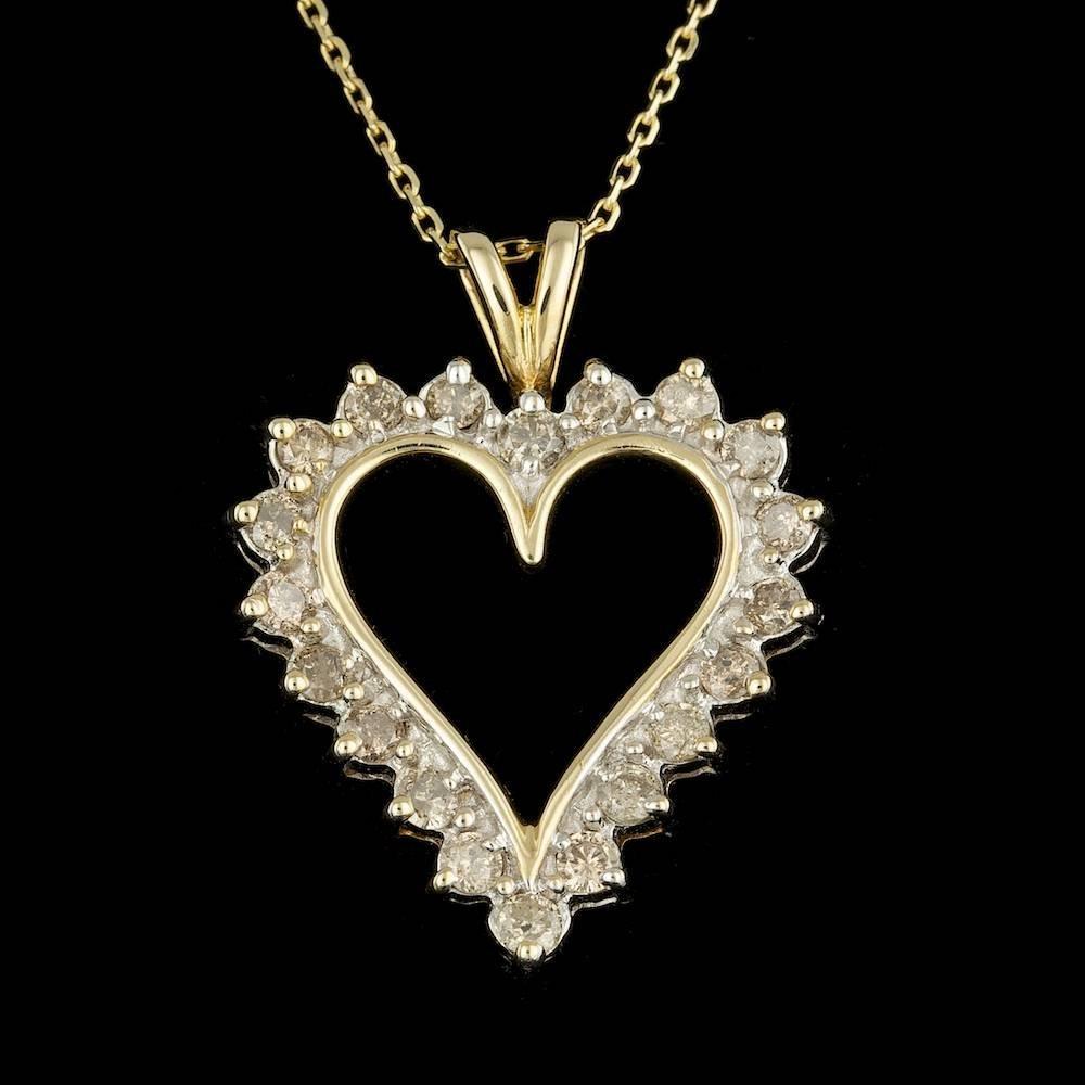 10k Yellow Gold 1.00ct Diamond Pendant