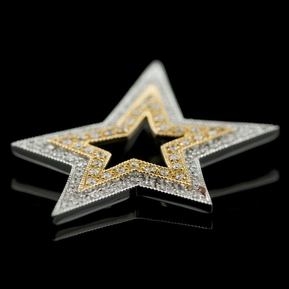 14k Multi-Tone Gold 0.33ct Diamond Pendant