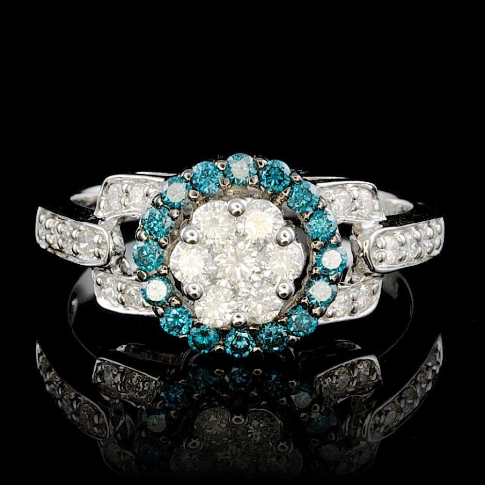 14k White Gold .8ct Diamond Ring