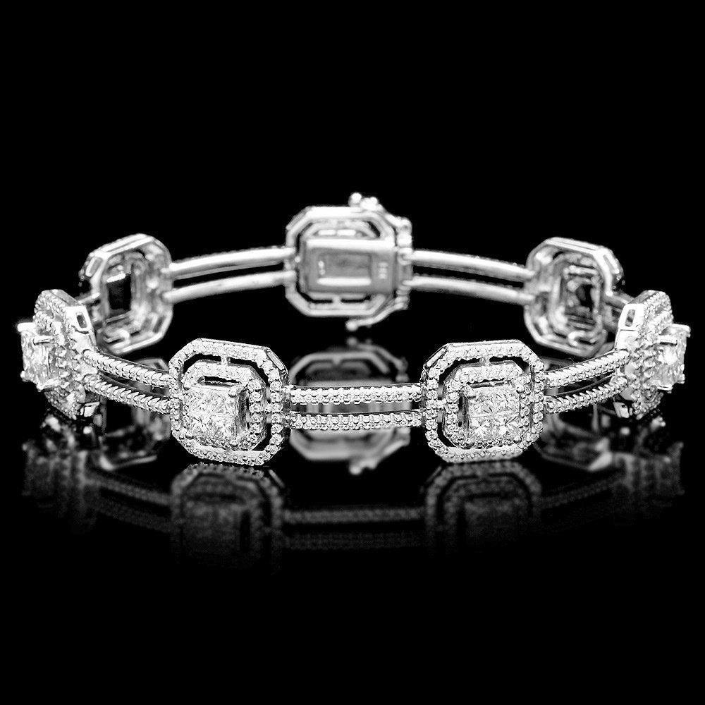 14k White Gold 5.1ct Diamond Bracelet