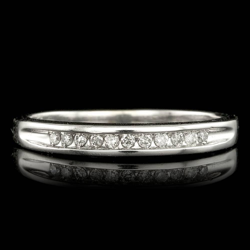 14k White Gold 0.20ct Diamond Ring