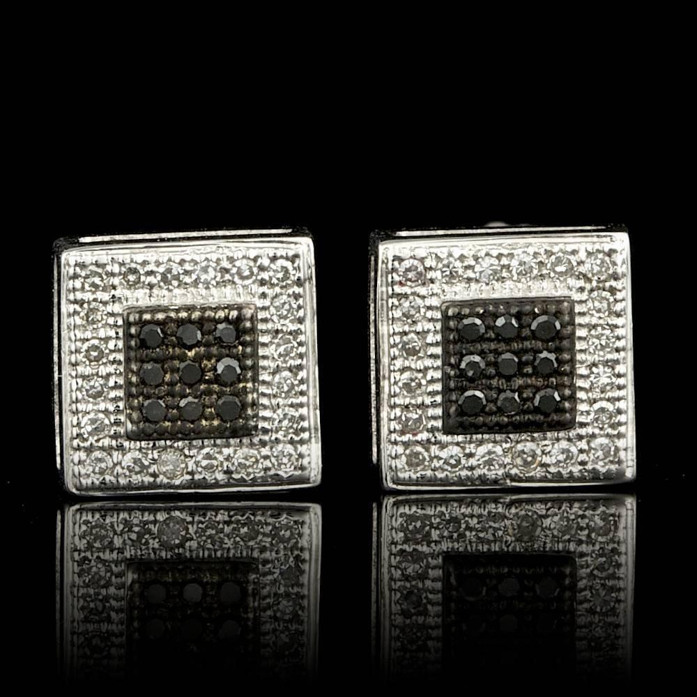 14k White Gold .15ct Diamond Earrings
