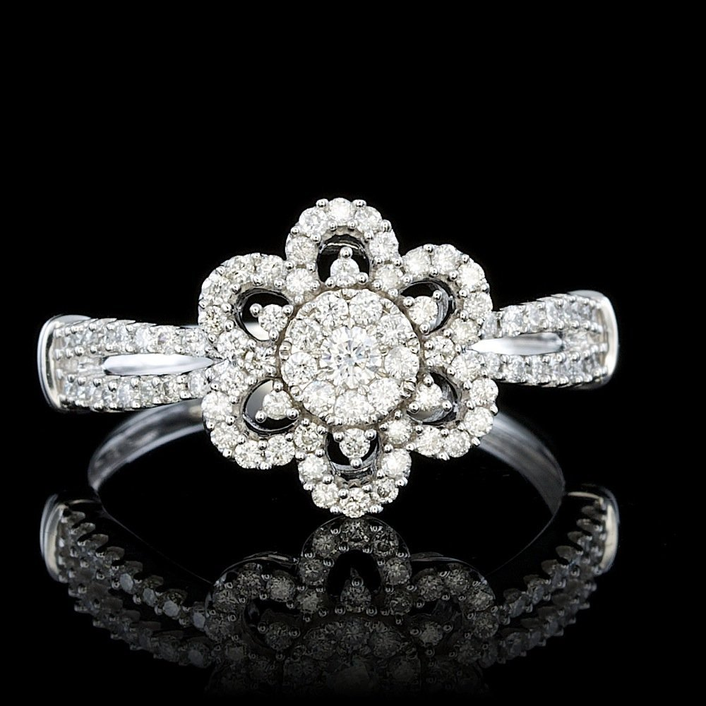 14k White Gold 0.50ct Diamond Ring