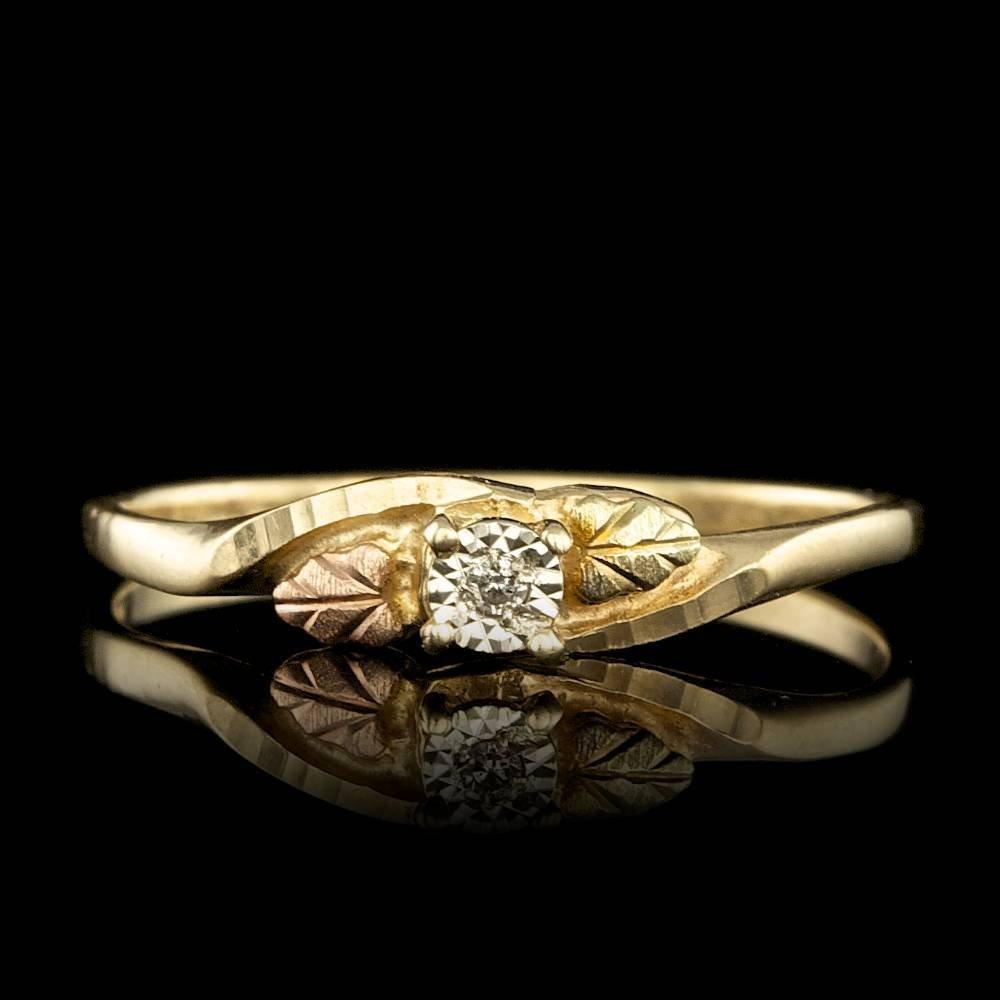 10k Yellow Gold 0.01ct Diamond Ring