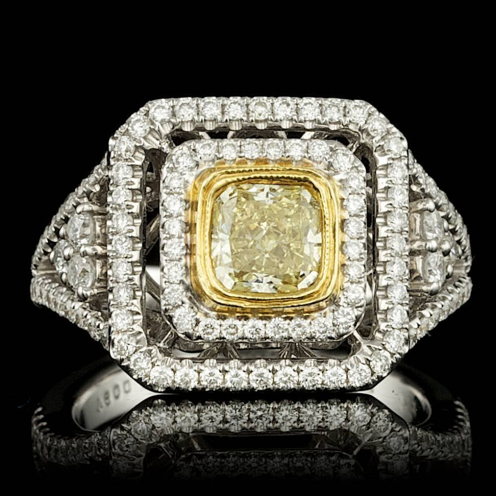 18k Multi-Tone Gold 2.05ct Diamond Ring