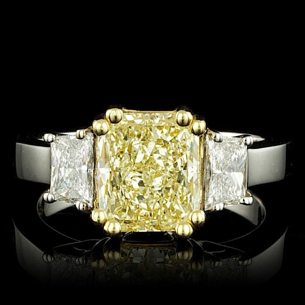 18k Multi-Tone Gold 3.29ct Diamond Ring