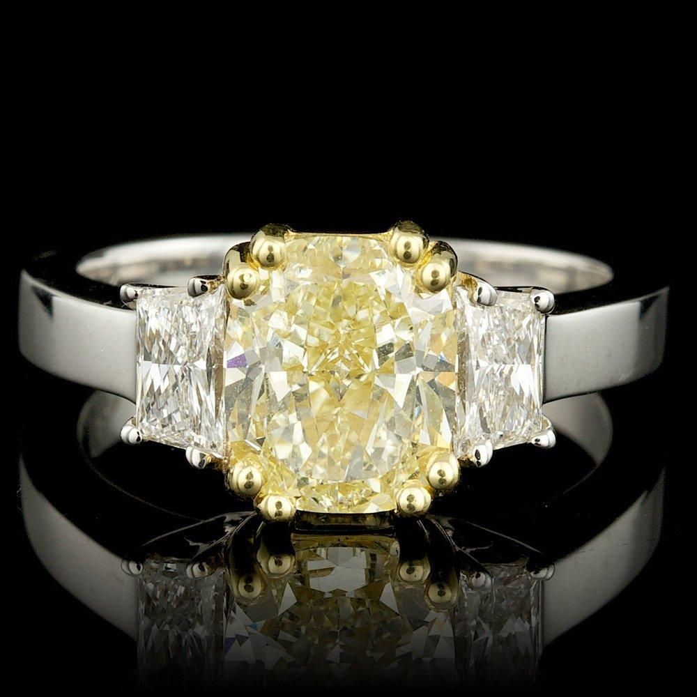 18k Multi-Tone Gold 3.33ct Diamond Ring