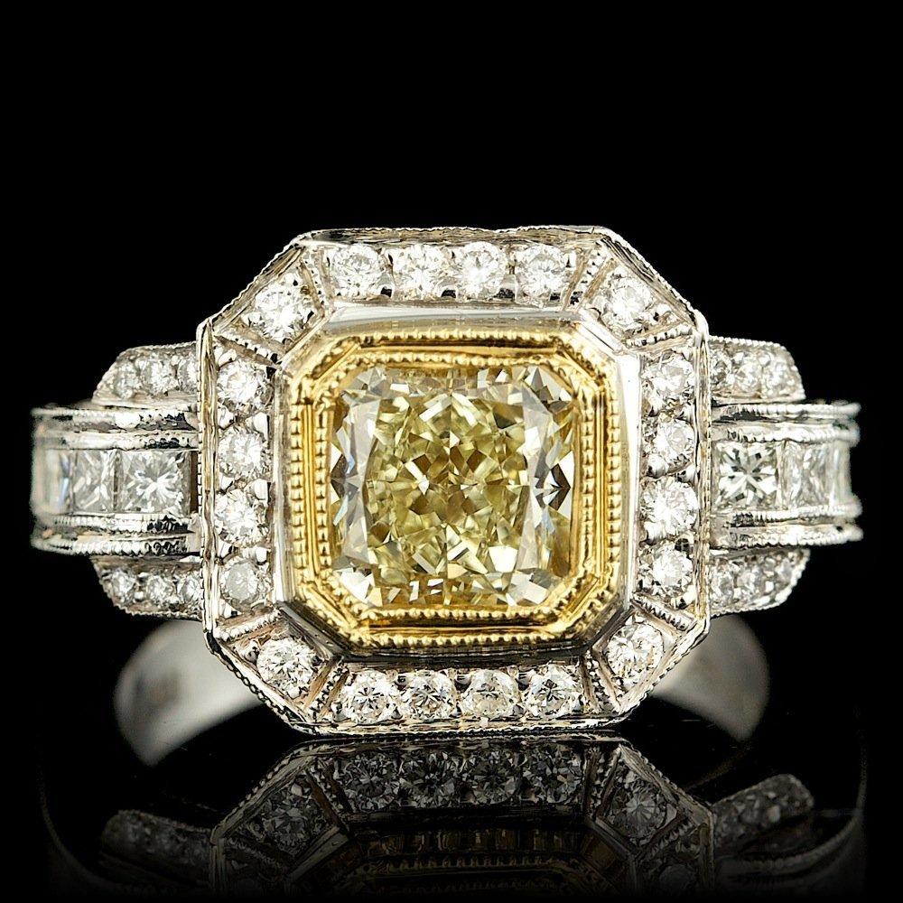 18k Multi-Tone Gold 2.69ct Diamond Ring