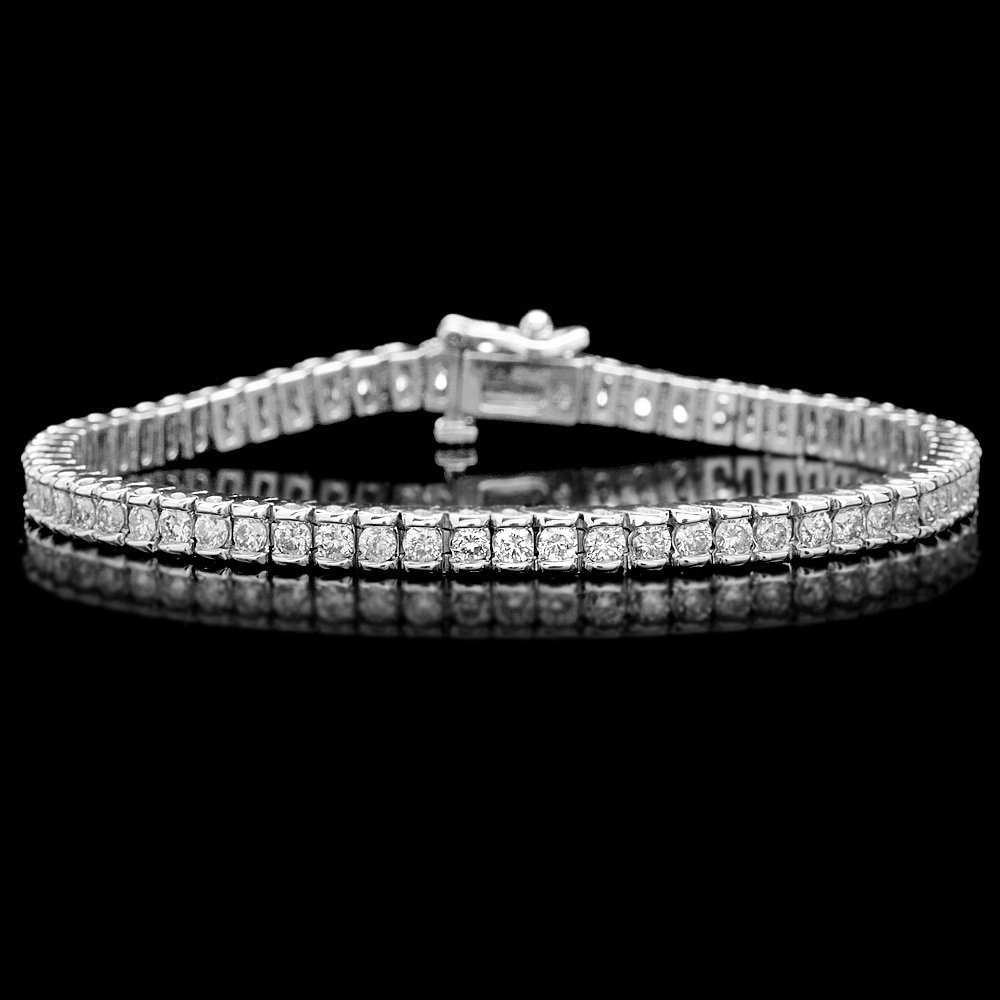 14k Yellow Gold 4.00ct Diamond Bracelet