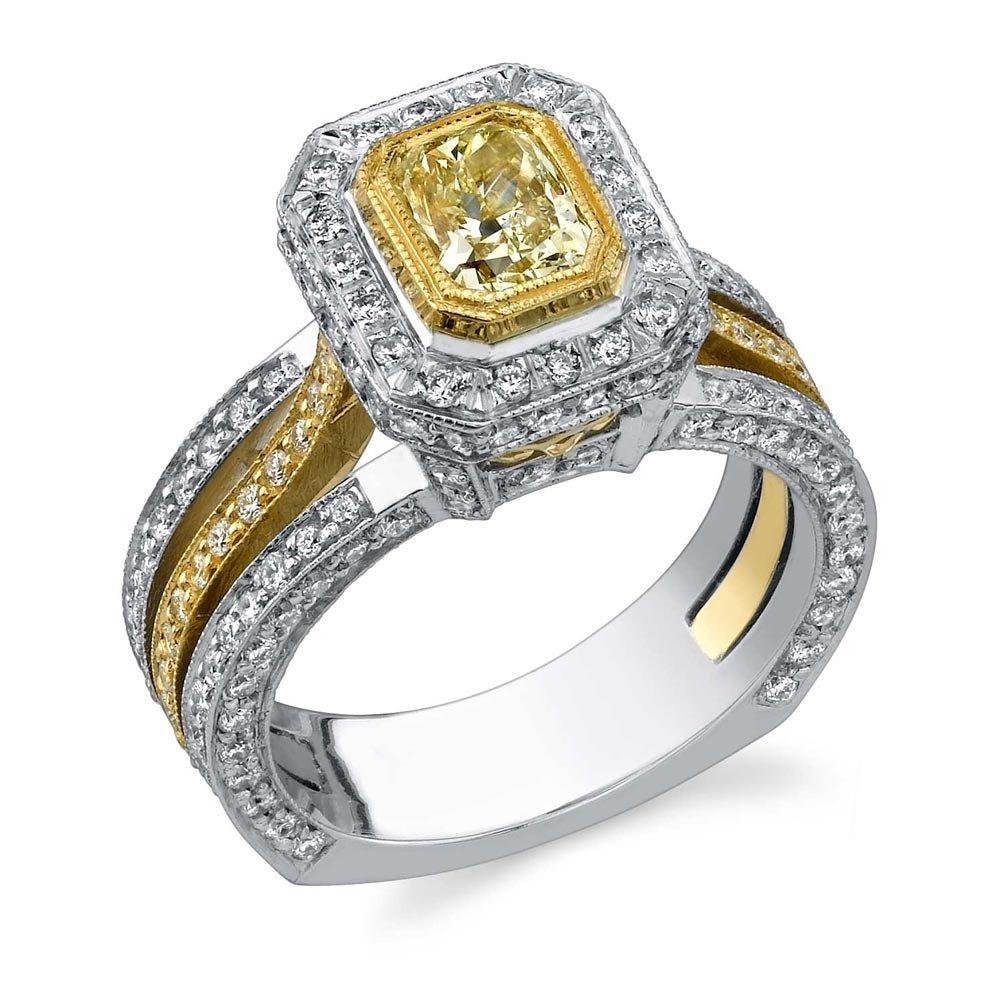 18k Multi-Tone Gold 1.85ct Diamond Ring