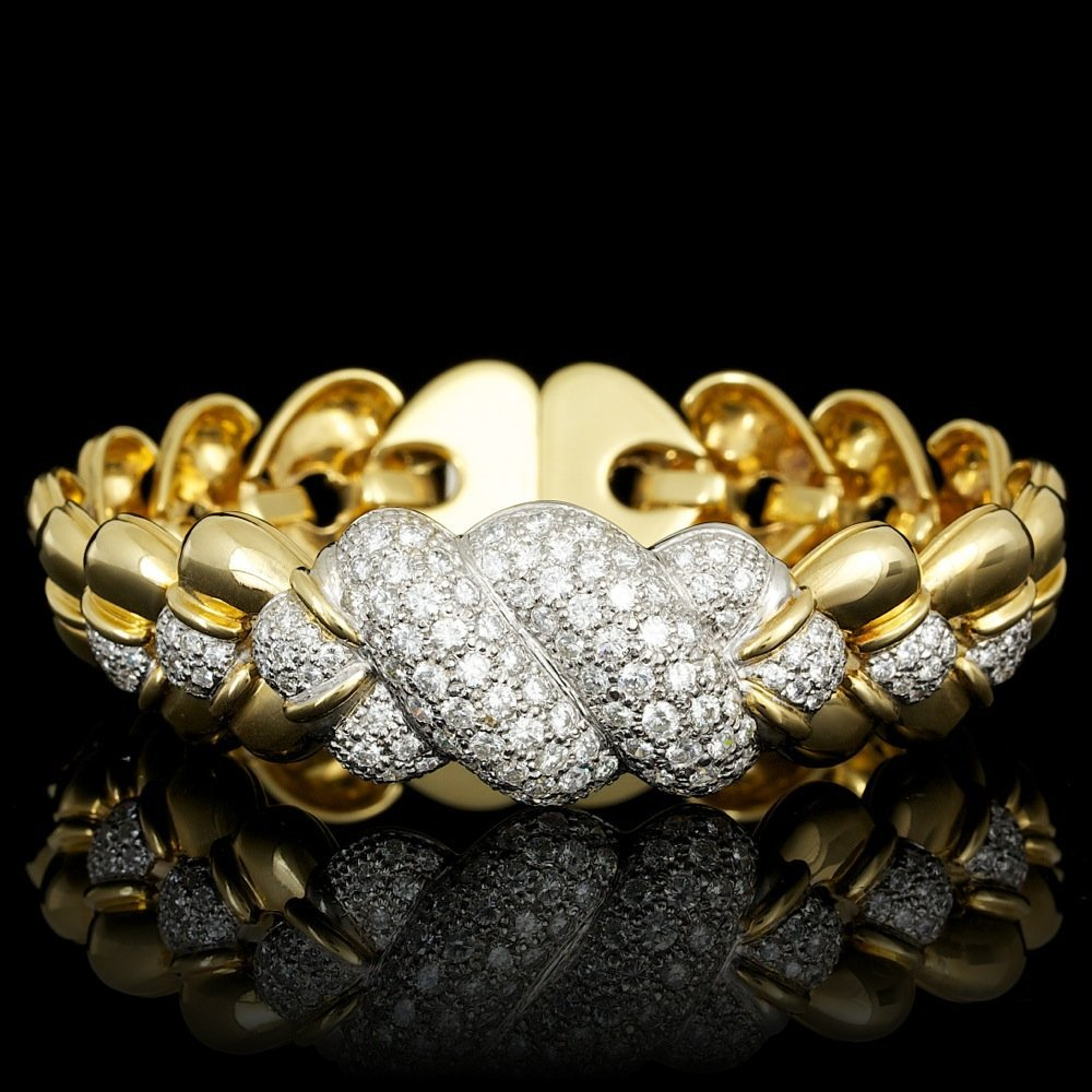 18k Multi-Tone Gold 3.53ct Diamond Bracelet