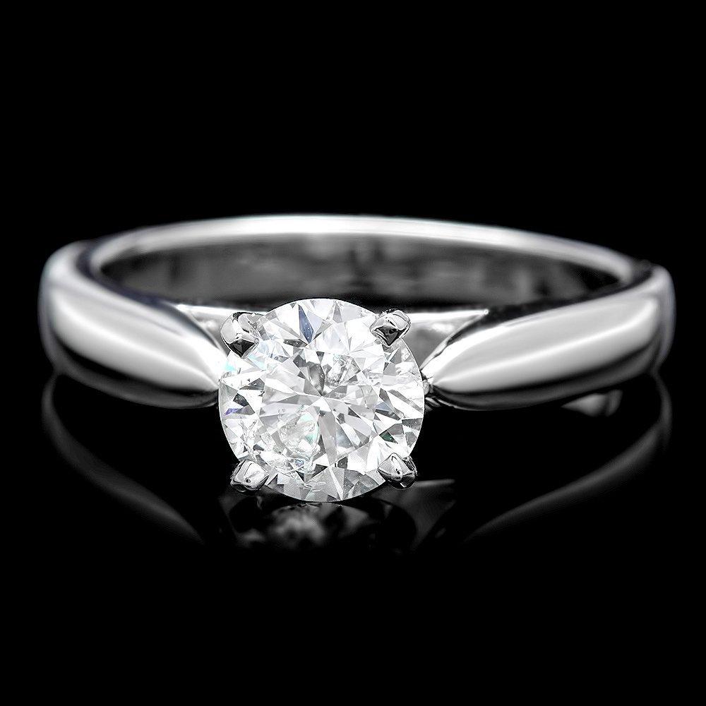 950 Paladium 1.08ct Diamond Ring