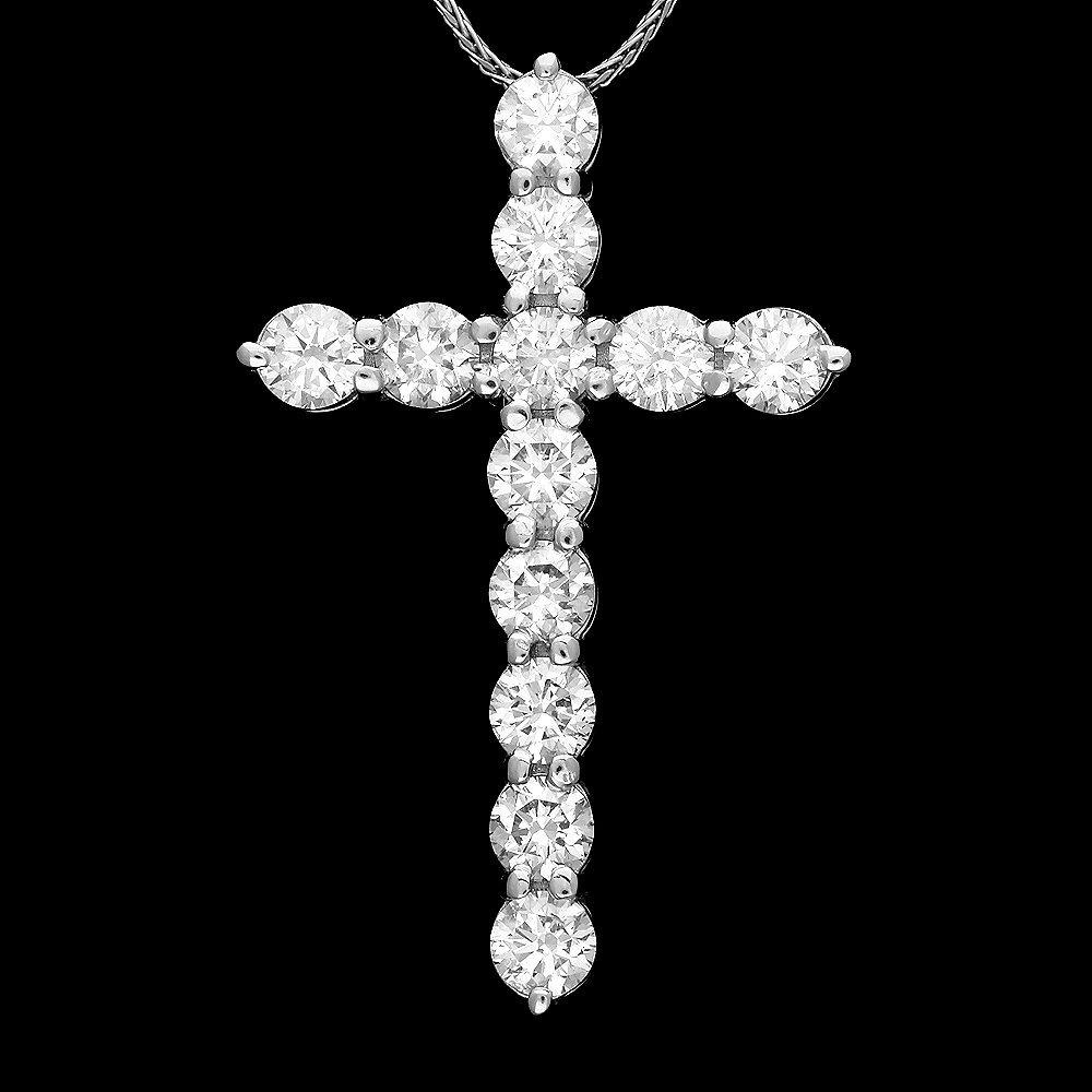 14k White Gold 2.25ct Diamond Pendant
