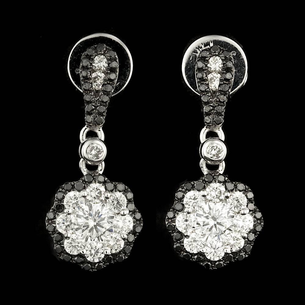 14k White Gold 1.05ct Diamond Earrings