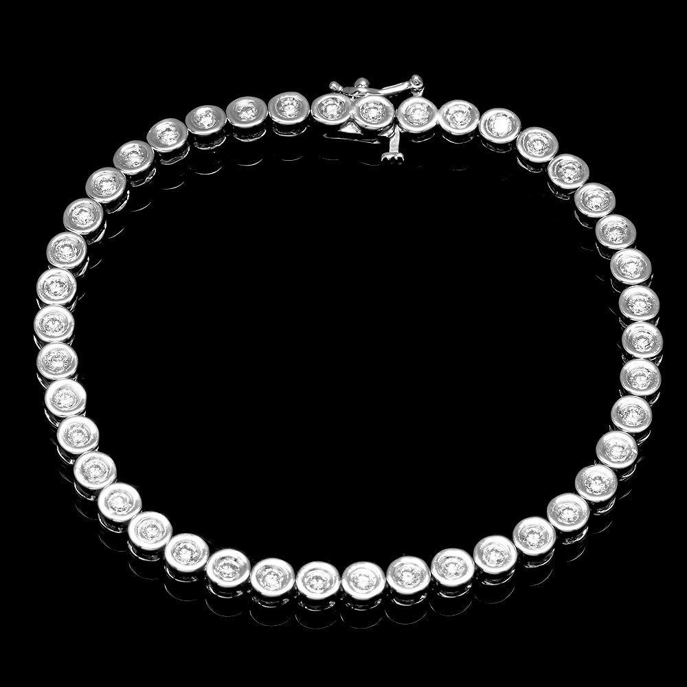 14k White Gold 1.90ct Diamond Bracelet