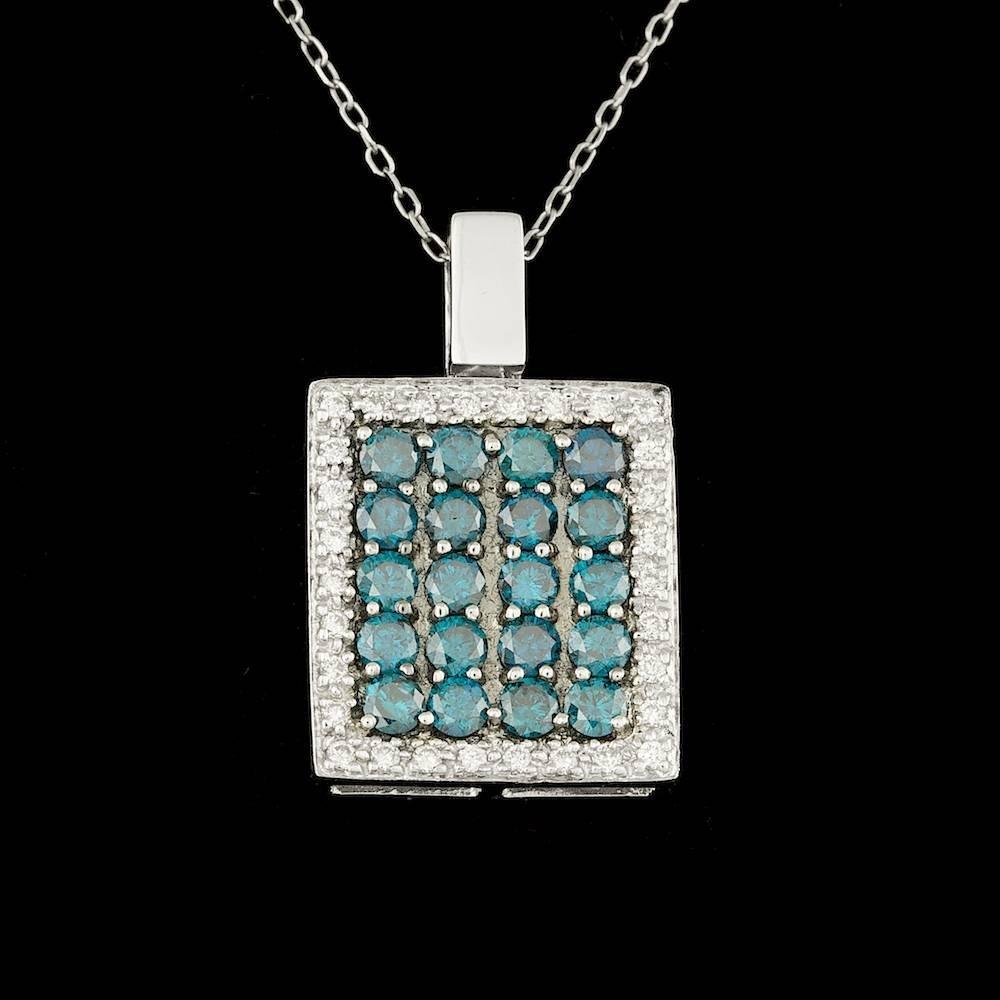 14k White Gold 1.88ct Diamond Pendant