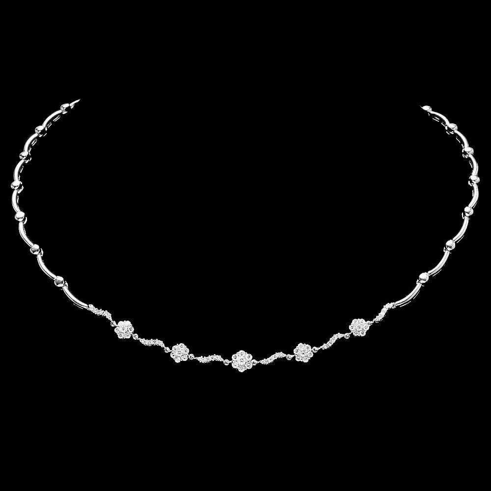 14k White Gold 1.55ct Diamond Necklace