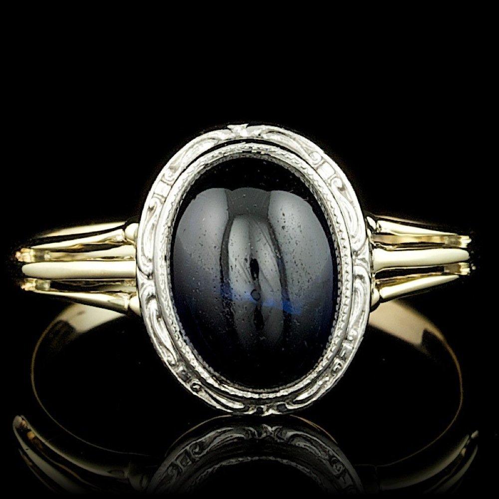 14k Multi-Tone Gold 3.00ct Sapphire Ring
