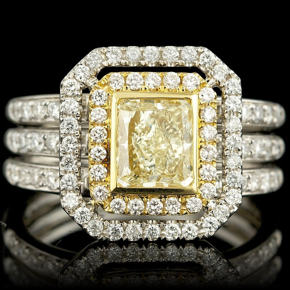 18k Multi-Tone Gold 1.75ct Diamond Ring