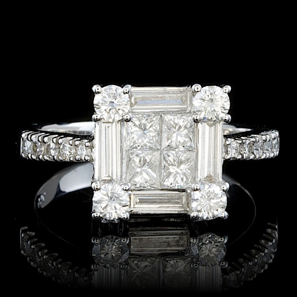 18k White Gold 1.45ct Diamond Ring