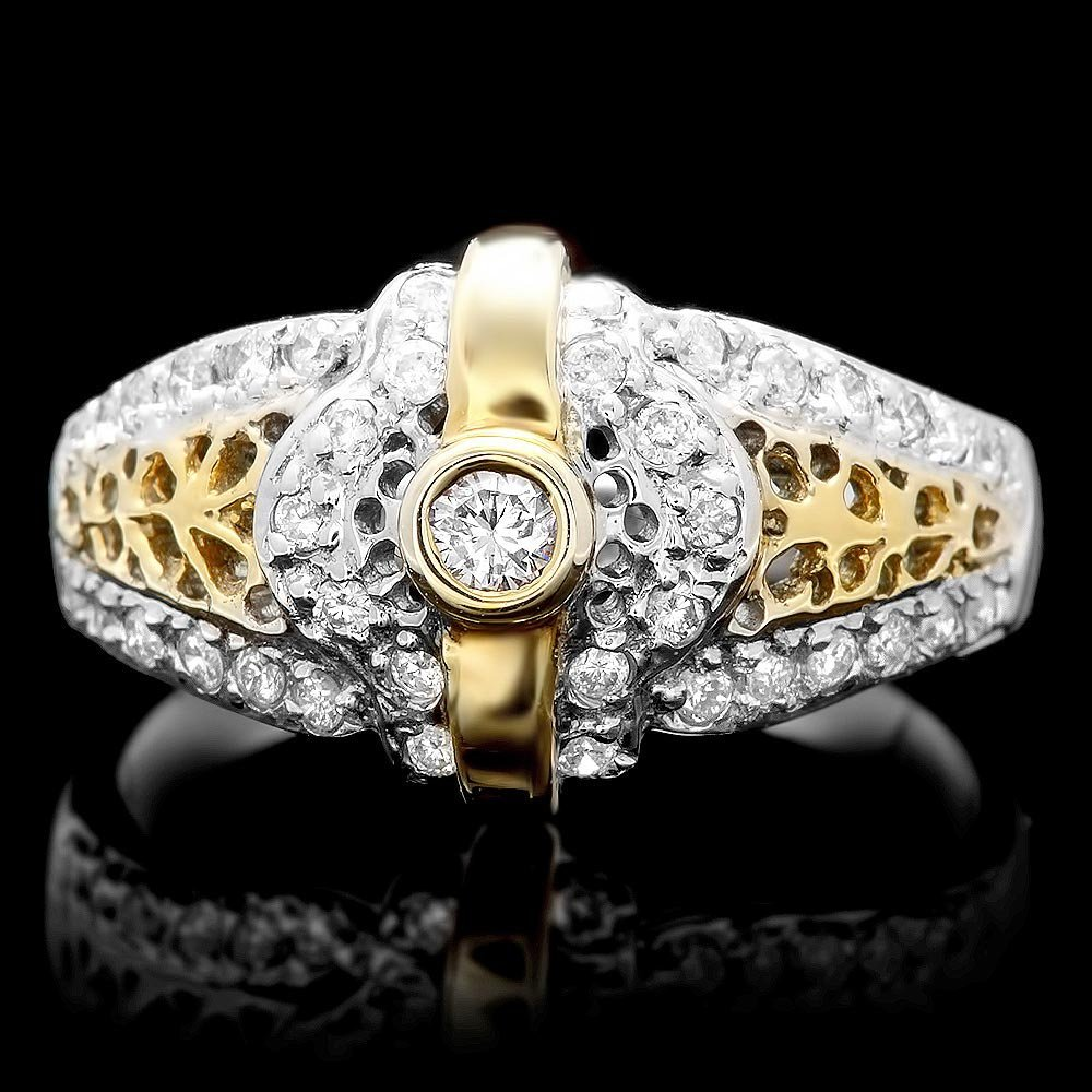 14k Multi-Tone Gold 0.40ct Diamond Ring
