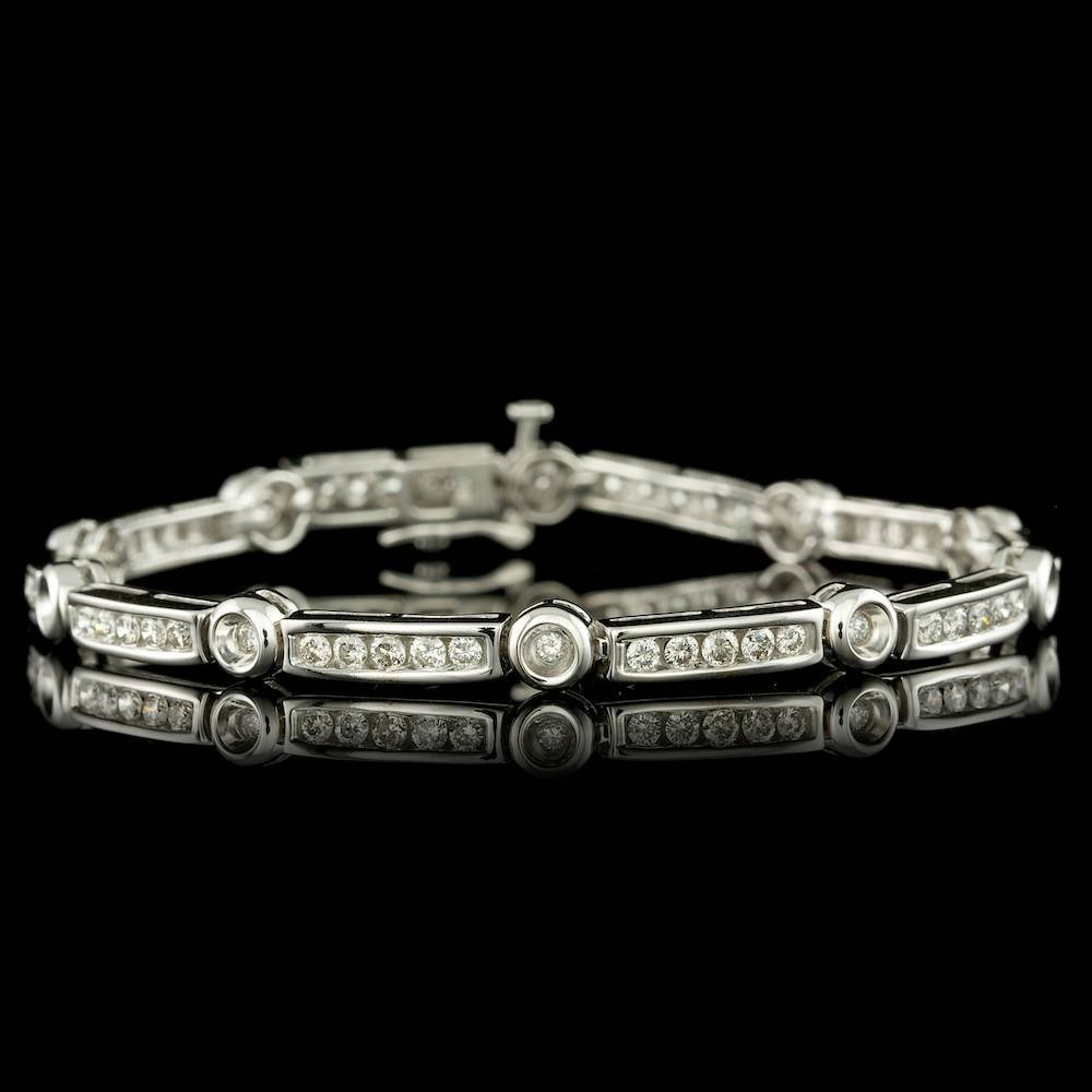 14k White Gold 2.00ct Diamond Bracelet
