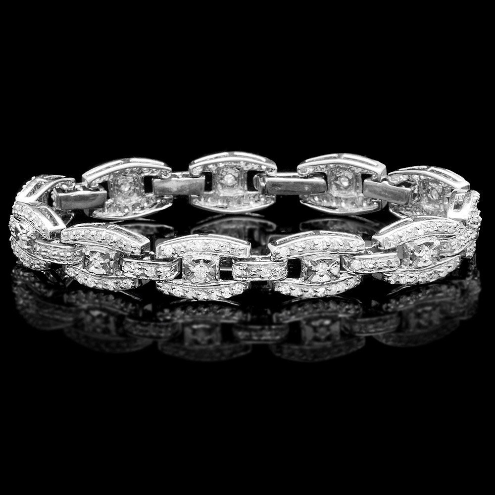 14k White Gold 4.30ct Diamond Bracelet