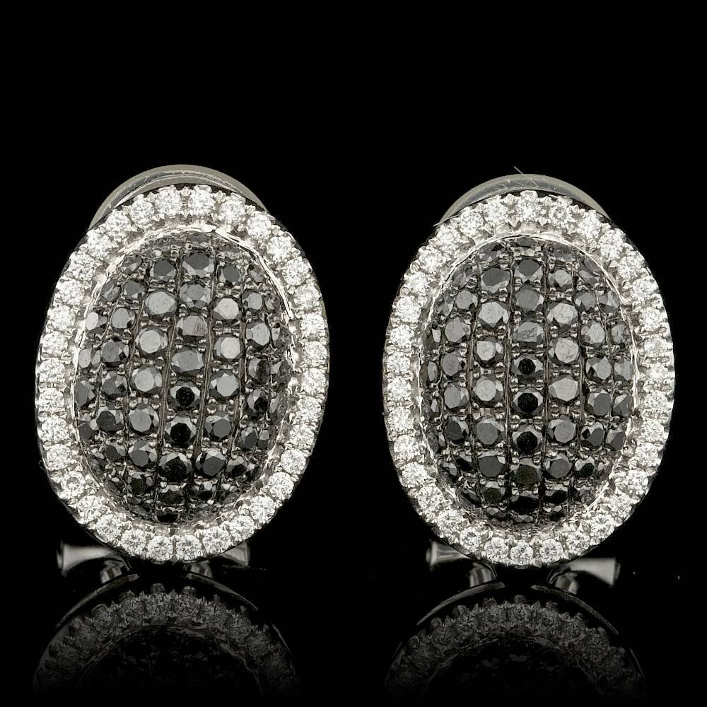 18k White Gold 1.25ct Diamond Earrings