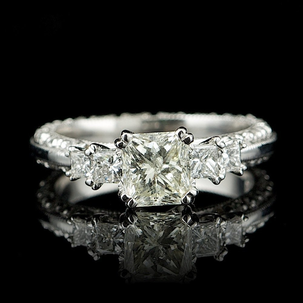 Platinum 1.7ct Diamond Ring