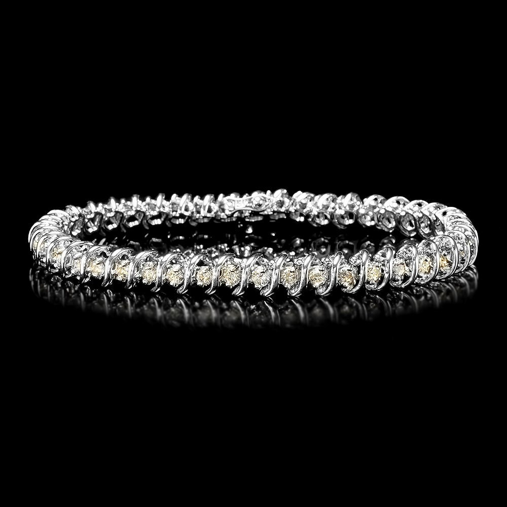 14k White Gold 2.80ct Diamond Bracelet