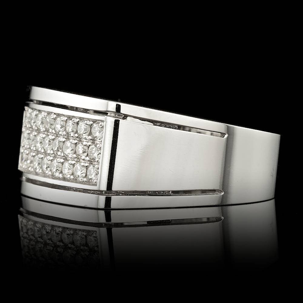 14k White Gold 0.60ct Diamond Mens Ring - 2