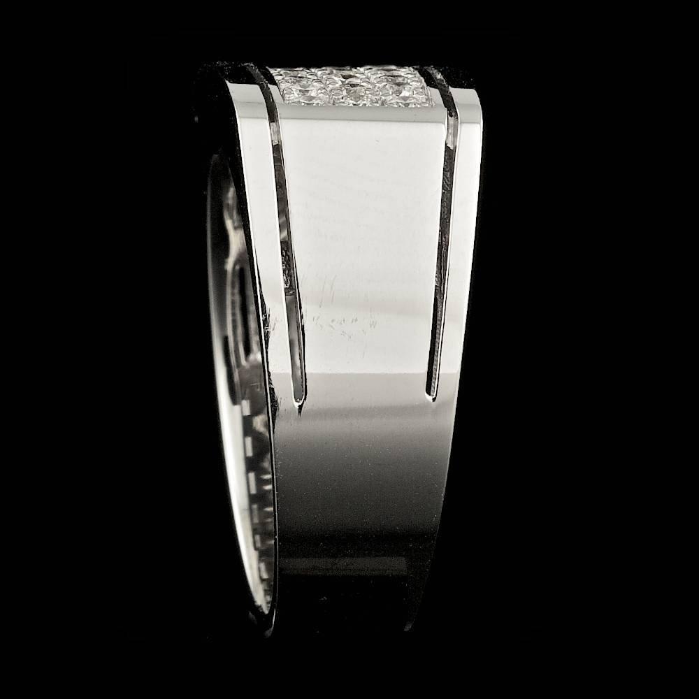 14k White Gold 0.60ct Diamond Mens Ring - 3