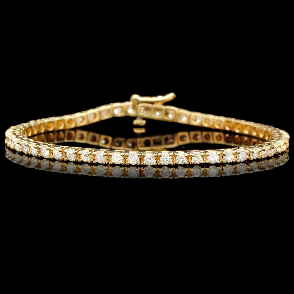 14k Yellow Gold 2.00ct Diamond Bracelet