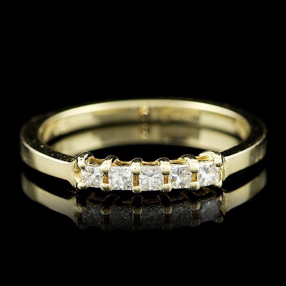 14k Yellow Gold 0.20ct Diamond Ring