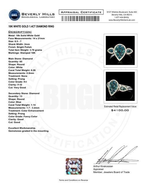 18k White Gold 1.4ct Diamond Ring - 7