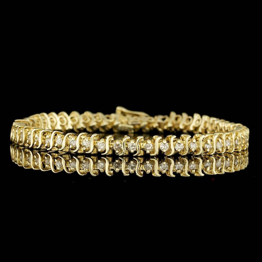 14k Yellow Gold 1.50ct Diamond Bracelet