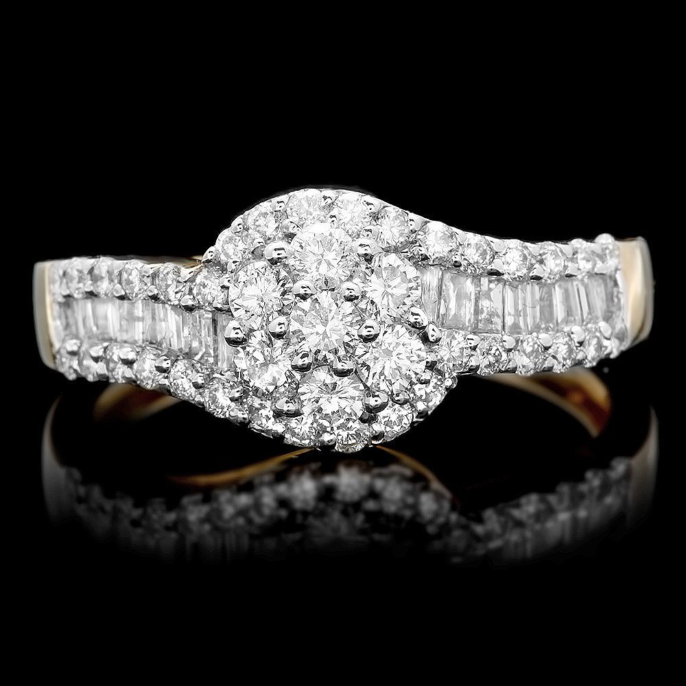 14k Multi-Tone Gold 1.05ct Diamond Ring