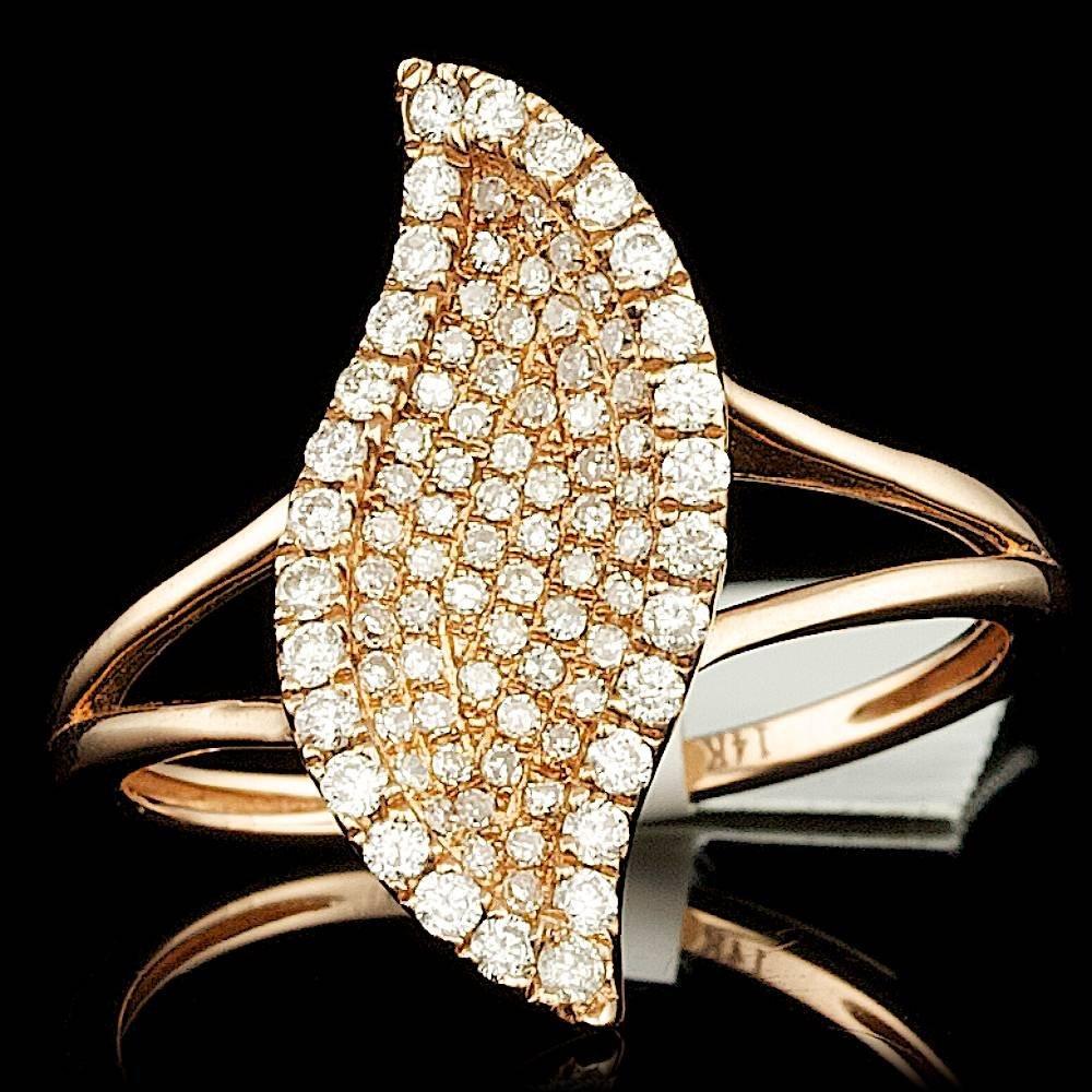 14k Rose Gold 0.44ct Diamond Ring
