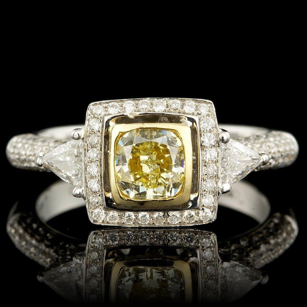 18k Multi-Tone Gold 1.61ct Diamond Ring