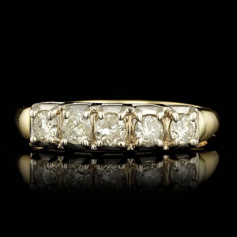 14k Yellow Gold 0.90ct Diamond Ring